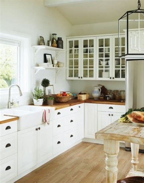 my cottage kitchen kitchen hanging lantern wood countertops open
