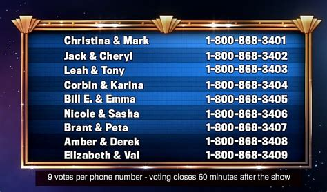 pure dancing   stars wrong phone numbers
