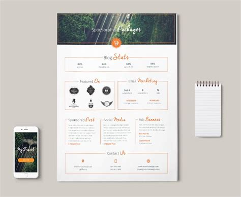 Media Kit Template by Media Kit Template Stockindesign