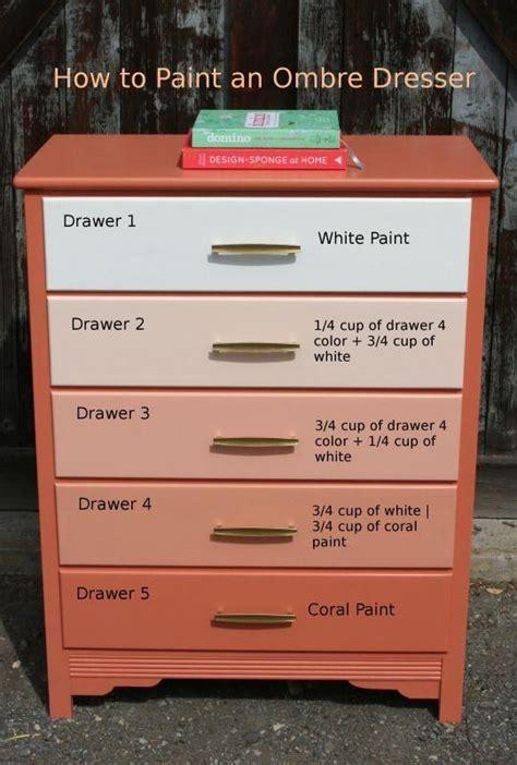 diy gradient ombre painted dresser diy cozy home