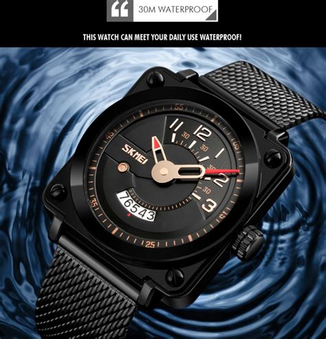 Jam Tangan Pria Casual Stainless Tahan Air 30m Skmei 9118cs skmei jam tangan analog pria stainless steel 9172 black jakartanotebook
