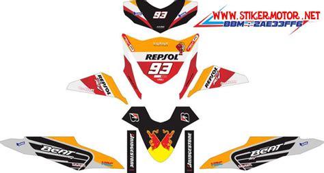 Sticker Stiker Motor Honda Beat Fi Repsol Marquez Spec B 1 motor honda beat fi repsol marquez stikermotor net