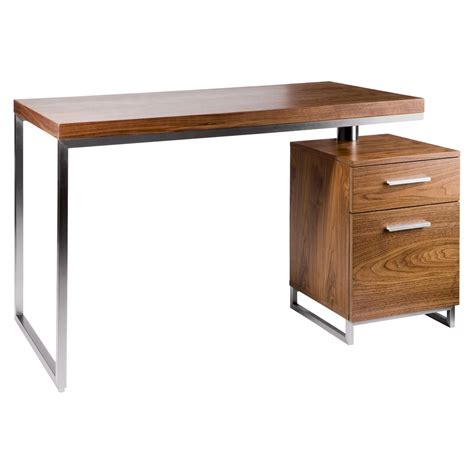 reversible desk and drawers walnut   dwell