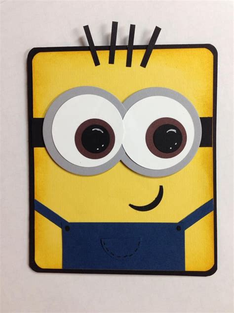Minion Gift Card - minion card handmade cards pinterest circles punch and circle punch