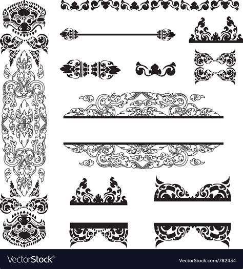 set of floral vector patterns royalty free stock images image 20201649 set of cambodian floral pattern royalty free vector image