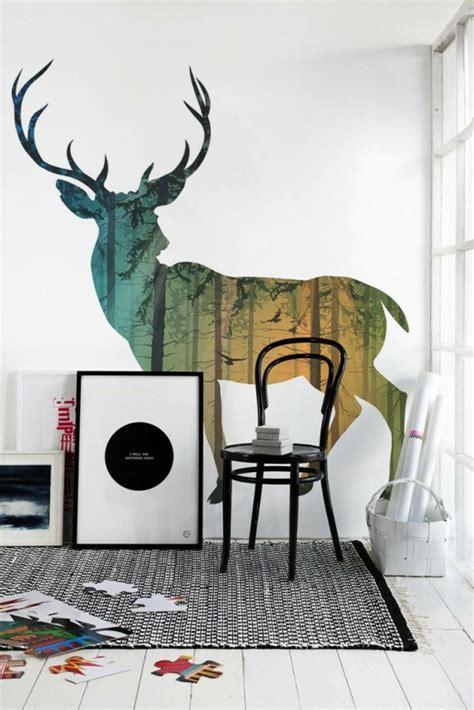 Simple Wall Mural Designs tolle wandgestaltung mit farbe 100 wand streichen ideen