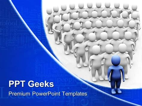 Leader Team Leadership Powerpoint Templates And Powerpoint Backgrounds 0411 Leadership Powerpoint Templates