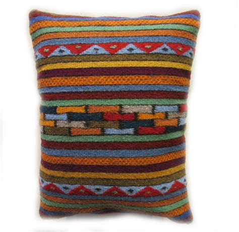 Zapotec Pillows by Handwoven Zapotec Pillow Geo Handwoven Wool Made