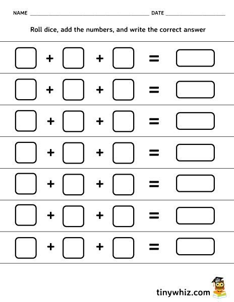 free printable dice addition worksheets blank addition worksheet geersc