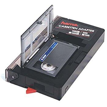 hama vhs c/vhs cassette adapter automatic: amazon.co.uk: tv