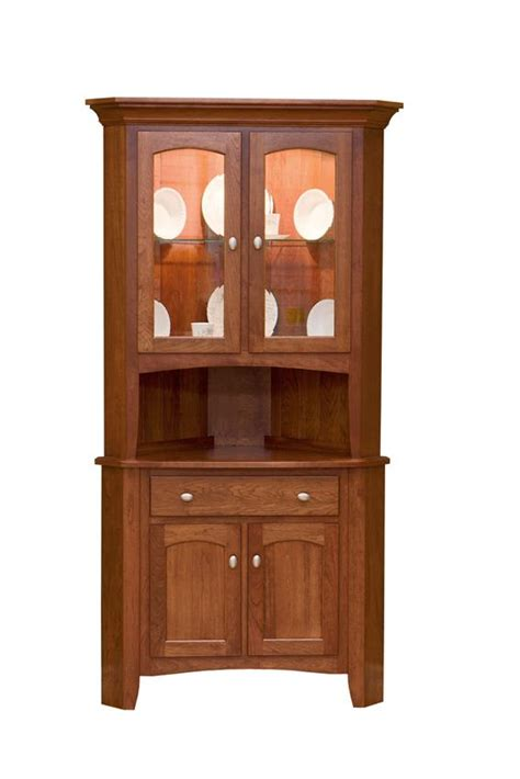 corner dining room hutch solid wood concord corner hutch from dutchcrafters amish