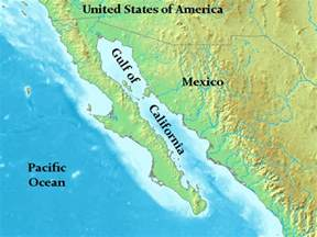 gulf of california on a map gulf of california map