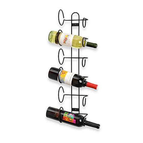 wine rack bed bath and beyond buy spectrum black 6 bottle wall mount wine rack from bed