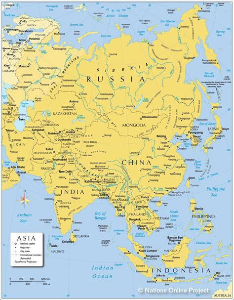 map of asai asia maps