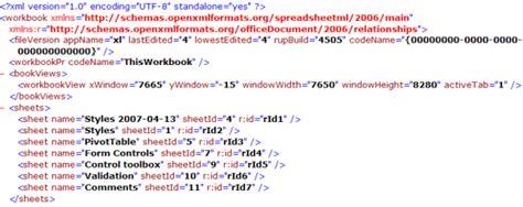 Excel 2007 Xml Format | excel worksheet data