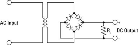 convert ac to dc with diodes how power supplies turn ac into dc in electronic circuits dummies