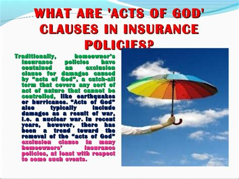earthquake exclusion clause act of god