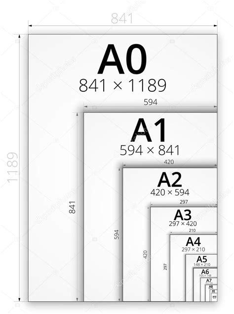 imagenes html size tama 241 o de formato a las hojas de papel vector de stock
