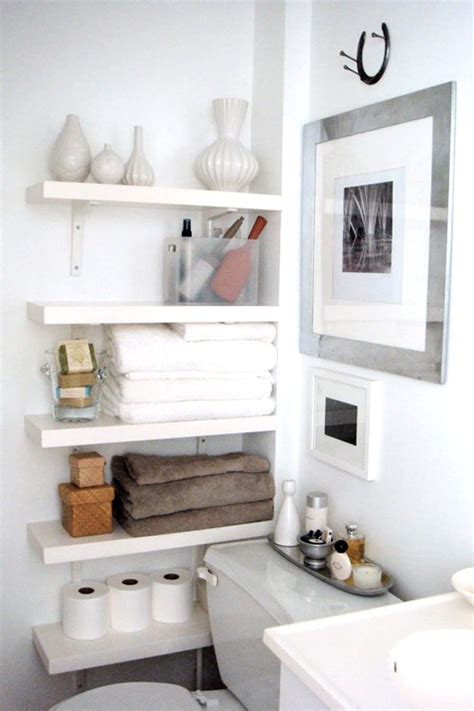 bathroom shelf idea 53 practical bathroom organization ideas shelterness
