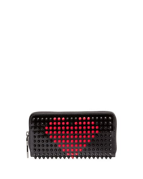 Christian Louboutin Wallet Mens Price by Christian Louboutin Panettone Valentines Wallet In Black Lyst