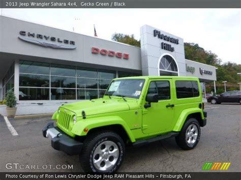 Gecko Green Jeep Wrangler For Sale Gecko Green 2013 Jeep Wrangler 4x4 Black