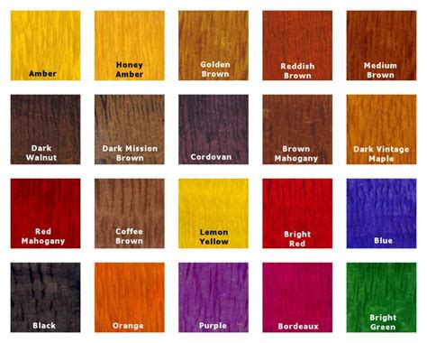 wood color chart transtint wood dye color chart color wood glue fillers