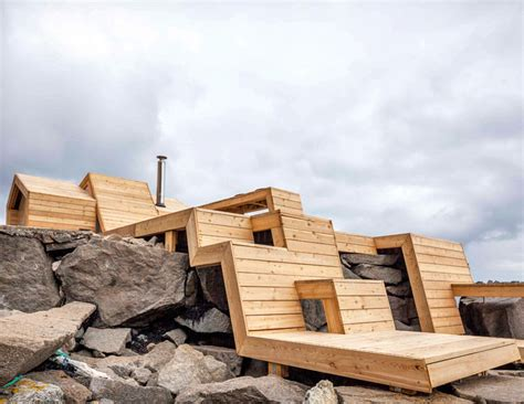 wood architecture norwegian students build a contemporary wooden sauna on