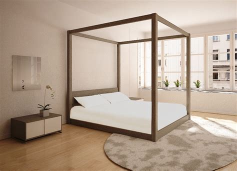 four post bed frame four poster custom timber bed frame