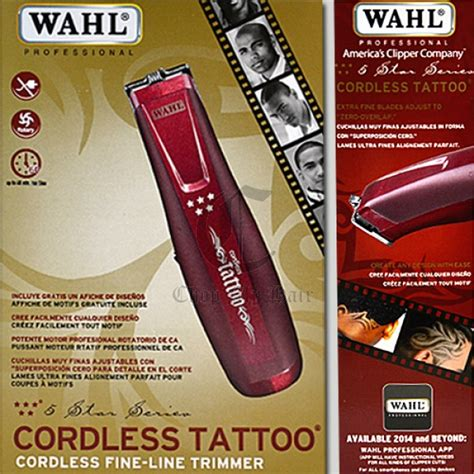 wahl tattoo trimmer wahl 5 cordless hair trimmer 8491