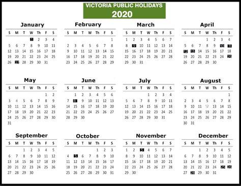 vic public holidays calendar  holiday   victoria vic school holidays