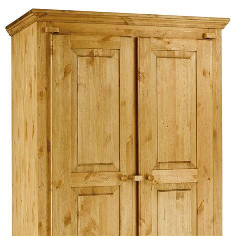 armoire en pin 2 portes armoire rustique en pin massif 2 portes 1 tiroir farm