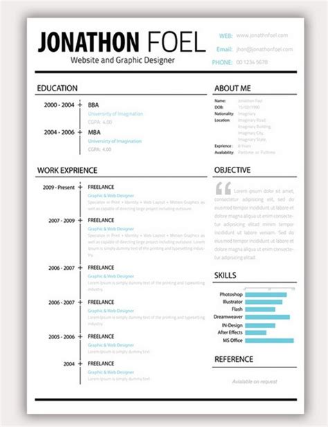 resume template cool 35 free creative resume cv templates phuket