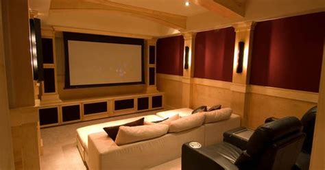 media room chase lounges  speakers  walls  ceiling