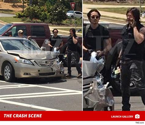 the real crash the walking dead actors jump to rescue in car crash