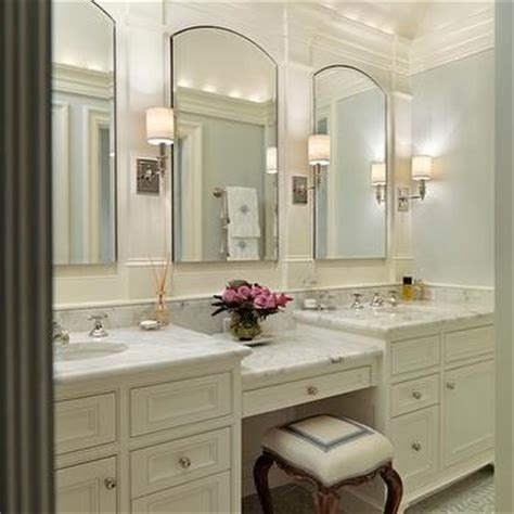 built in make up vanity traditional bathroom goforth design