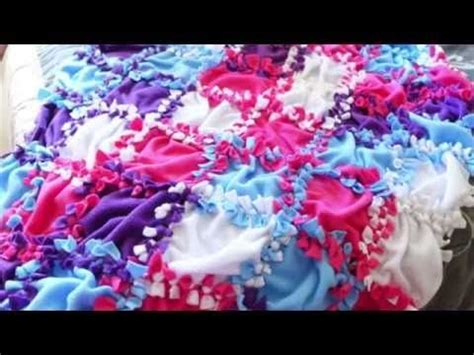 How To Sew A Patchwork Blanket - 17 best images about tie knot blankets on baby