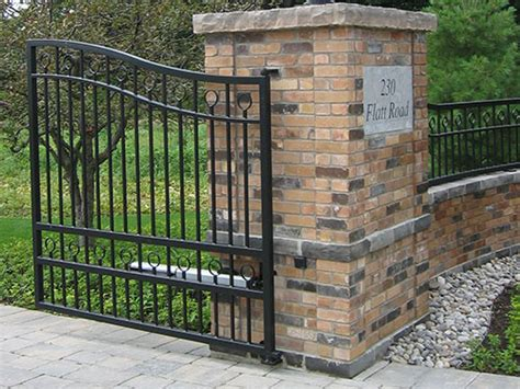 when gates swing open residential swing gates standalone or masonry total gate