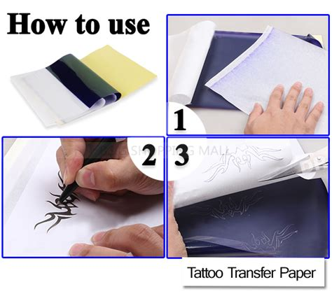 tattoo paper how to 20pcs 4 layers a4 size tattoo transfer paper carbon
