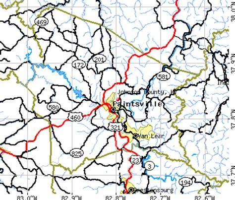 kentucky map johnson county johnson county kentucky detailed profile houses real
