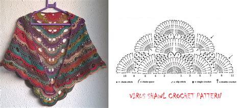 free pattern virus shawl crochet free pattern virus shawl kelas seni mengait