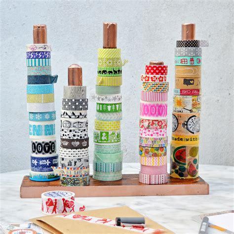 diy washi diy handy washi holder twine ribbon holder pillar box blue