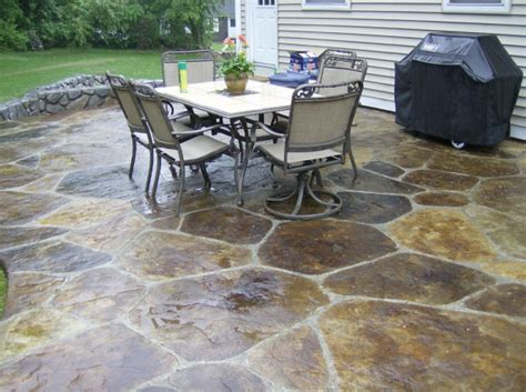 concrete patio ideas backyard simple paver patio home design scrappy