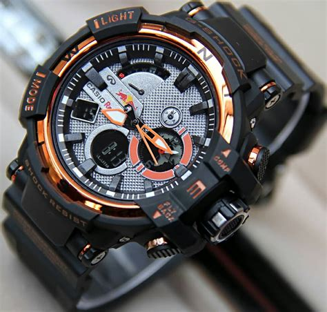 Jam Tangan Gc Brown List Orange jual jam tangan g shock gwa redbull hitam list orangejual