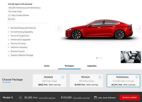tesla model 3 design studio tesla will bundle car buying into quot packages quot 90 kwh battery discontinued june 8