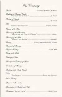 One Page Wedding Program Template by Best Photos Of Sle Wedding Ceremony Program Exles