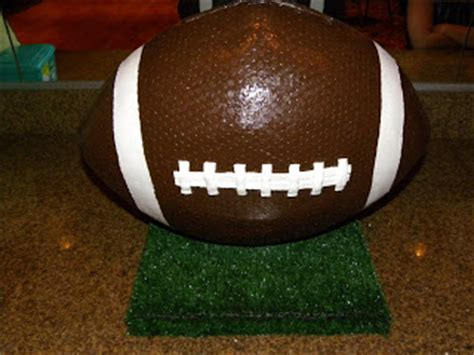 How To Make A Paper Mache Football - things and stuff by paper mache football card holder