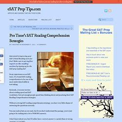 sat reading section tips reading comprehension psychometry pearltrees
