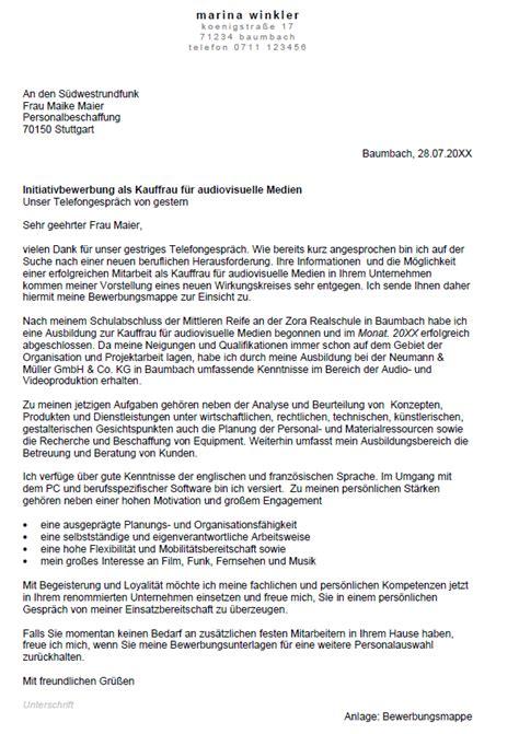Bewerbung Fur Kauffrau Versicherungen Und Finanzen bewerbung kauffrau f 252 r audiovisuelle medien