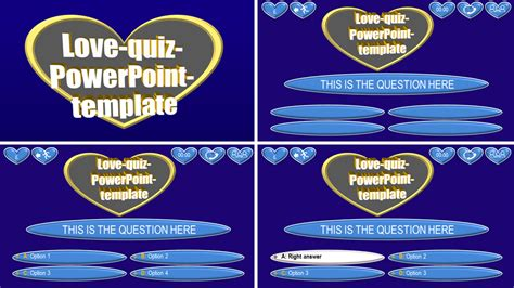 quiz theme powerpoint powerpoint quiz template love ppt themes