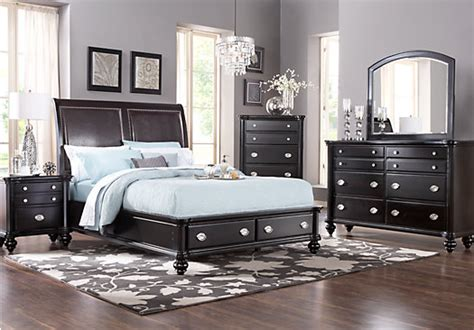 espresso bedroom set remington place espresso 5 pc king sleigh bedroom with